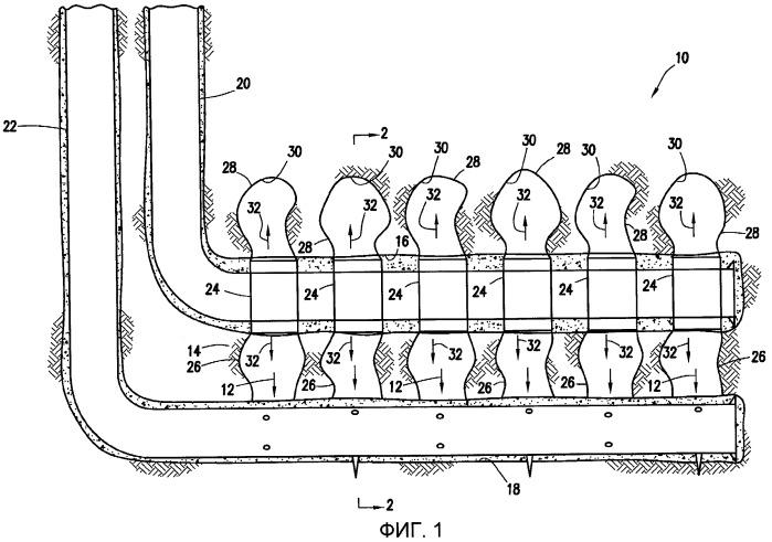 Способ добычи тяжелой нефти из коллектора через горизонтальный ствол скважины и система скважины
