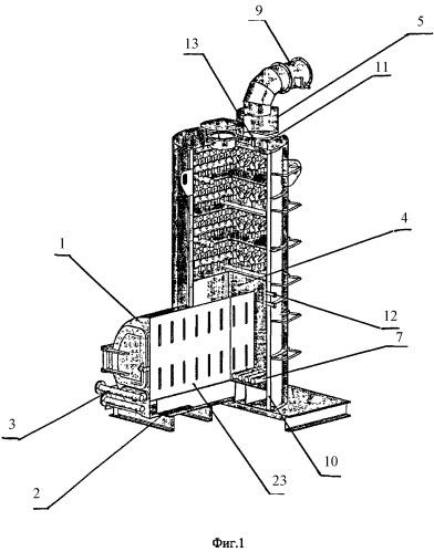 Термогазохимическая установка для утилизации твердых бытовых отходов