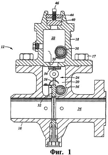 Узел запорного клапана, двухкамерный диафрагменный фитинг и способ запора потока текучей среды