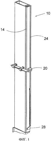 Измерительное устройство и способ измерения прогибания удлиненного тела