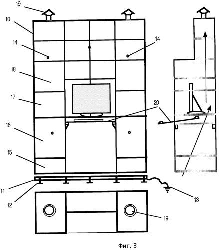 Устройство для надежного экранирования излучения от электронной аппаратуры и способ его изготовления