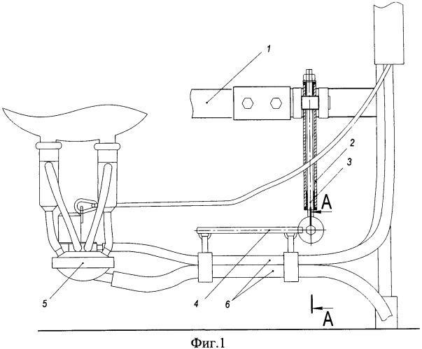 Устройство позиционирования подвесной части доильного аппарата при доении на станочных доильных установках
