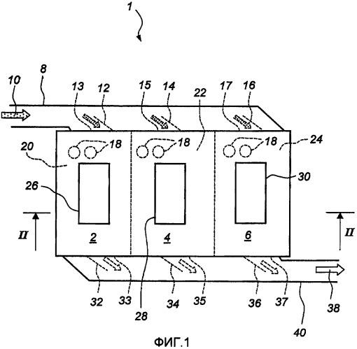 Тканевый фильтр с псевдоожиженным слоем пыли и способ его технического обслуживания