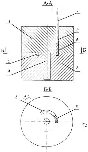 Устройство для равноканального углового прессования металлической заготовки