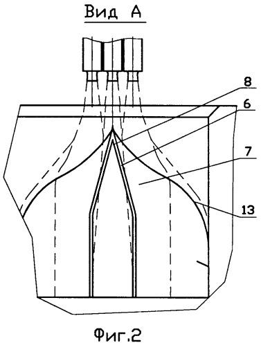Способ отвода высокотемпературных высокоскоростных струй продуктов сгорания при запуске со стартового комплекса многоблочной ракеты