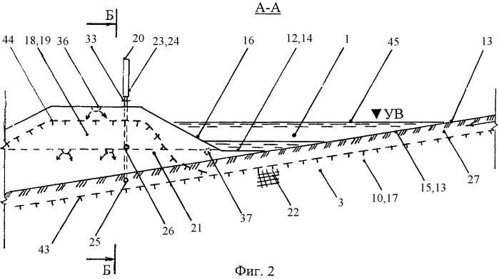 Гидротехнический канал на многолетнемерзлых грунтах склона и охлаждающая установка насыпи (варианты)