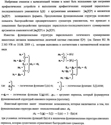 Функциональная структура предварительного сумматора f ([mj]&[mj,0]) параллельно-последовательного умножителя f ( ) с процедурой логического дифференцирования d/dn первой промежуточной суммы [s1  ]f(})-или структуры активных аргументов множимого [0,mj]f(2n) и [mj,0]f(2n) (варианты)