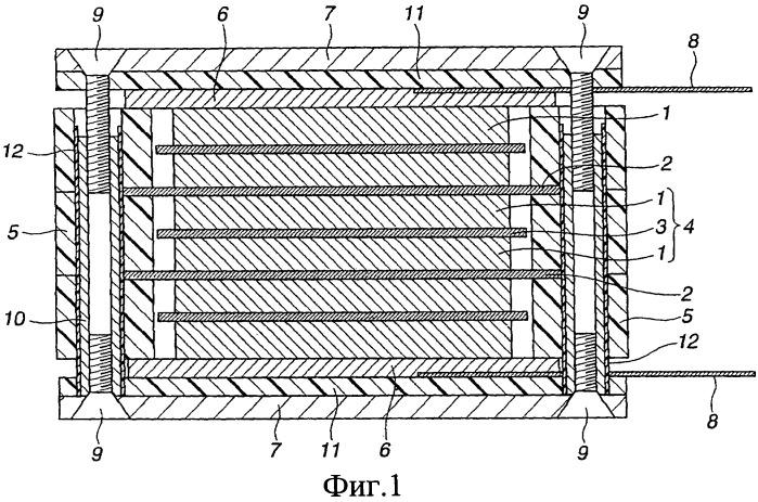 Электрический двухслойный конденсатор биполярного слоистого типа