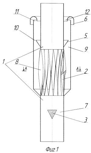 Прямоточный спиральный сепаратор