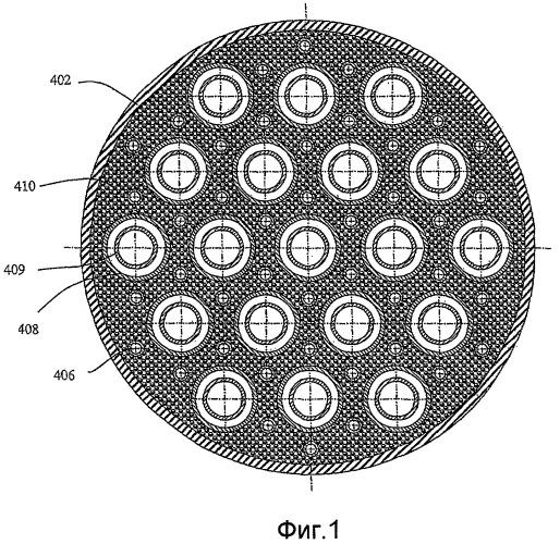 Теплообменный реактор внутреннего сгорания для эндотермической реакции в неподвижном слое