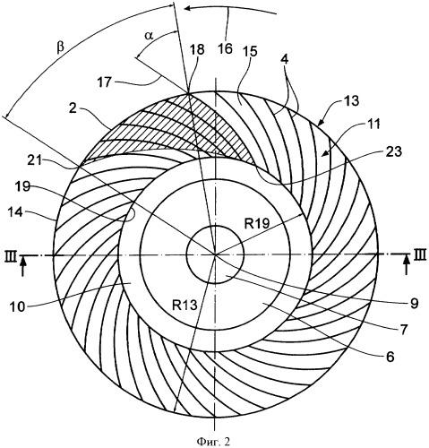 Веерный шлифовальный круг