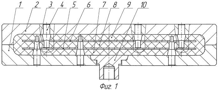 Пресс-форма для вулканизации армированных резинотехнических изделий