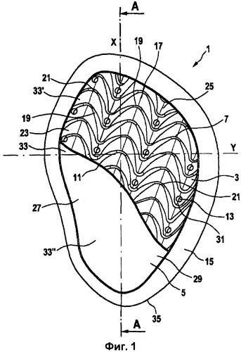 Пружинящая прокладка для человеческой ступни, стелька и обувь, включающие указанную прокладку, и способ производства указанной стельки
