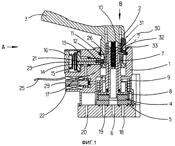 Клапанное устройство для изменения вручную дорожного просвета автомобиля с пневматической подвеской