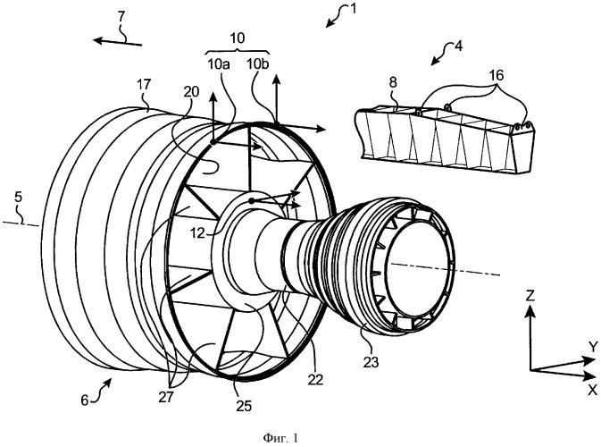 Силовая установка летательного аппарата, содержащая двигатель, а также устройство крепления такого двигателя
