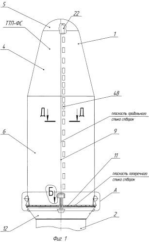 Отделяемый крупногабаритный головной обтекатель ракеты-носителя