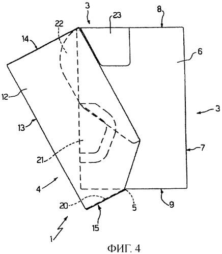 Жесткая упаковка для табачных изделий, выполненная с приклеенной поворотной крышкой