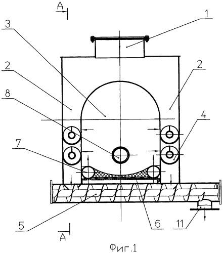Способ пиролиза сыпучих материалов органического происхождения и устройство для его осуществления