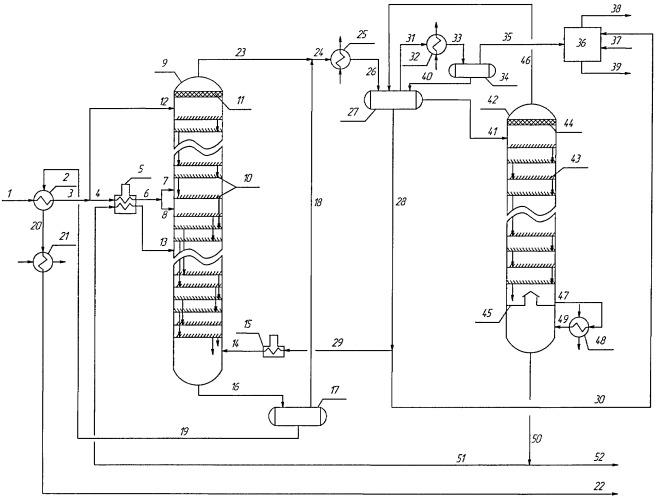 Способ стабилизации и очистки нефти от легких меркаптанов и сероводорода