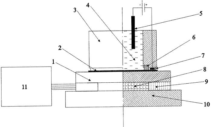 Электрохимическая ячейка для получения пористых анодных оксидов металлов и полупроводников