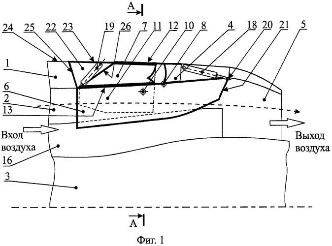 Устройство поворота вектора тяги турбореактивного двухконтурного двигателя