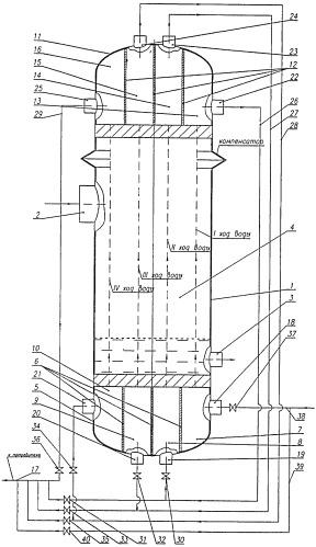 Вертикальный пароводяной теплообменник