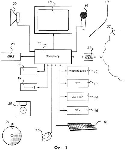 Навигационное устройство и способ для приема и воспроизведения звуковых образцов