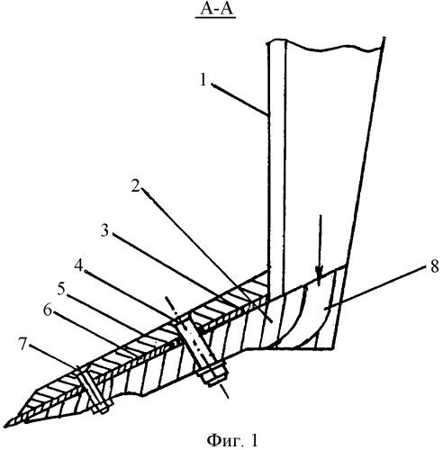 Комбинированный рабочий орган почвообрабатывающего орудия