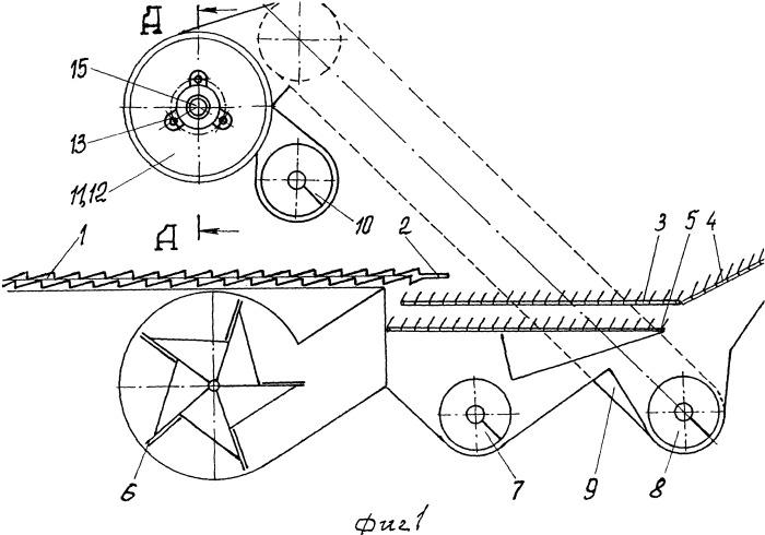 Домолачивающее устройство колосового вороха