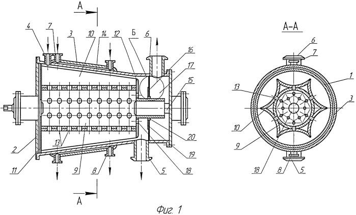Конический ротационно-пленочный аппарат
