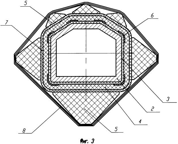 Способ изготовления многогранной трубы из слоистого композиционного материала и многогранная труба из слоистого композиционного материала