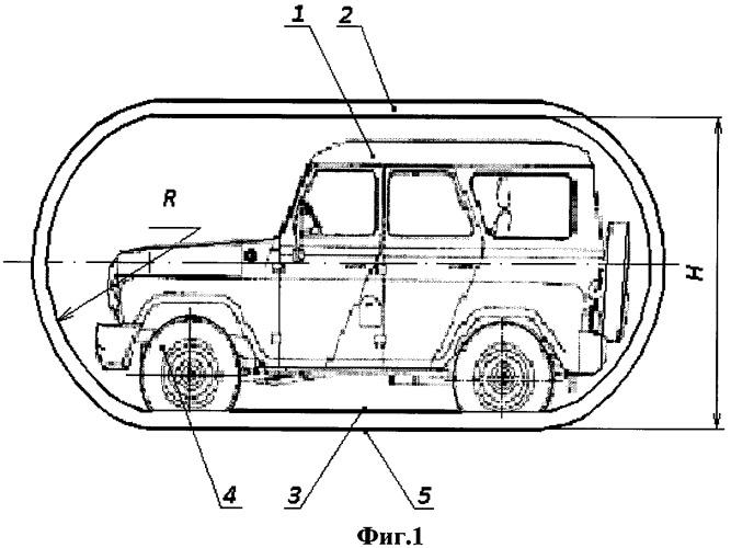 Гусеничный движитель для шинного транспортного средства