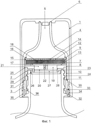 Универсальное устройство для обработки и очистки жидкого продукта, находящегося в упругодемпфированной емкости, а также приготовления нового продукта, отличного от исходного