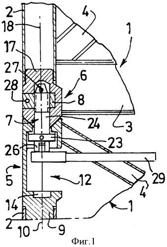 Разъемное устройство для соединения элементов мачты башенного крана