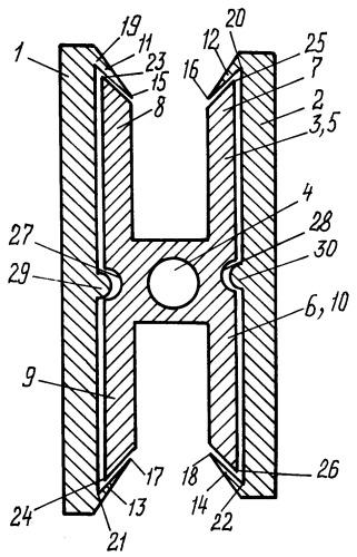 Комплект профилей для изготовления сборного металлического профиля, способ изготовления сборного металлического профиля, способ изготовления гнутого сборного металлического профиля и сборный металлический профиль, полученный этими способами