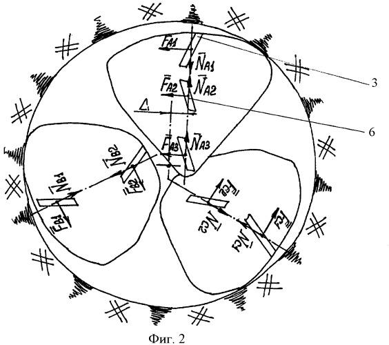 Буровое трехшарошечное долото