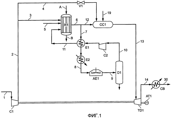 Способ комбинированного производства электроэнергии и получения обогащенного водородом газа паровым риформингом углеводородной фракции с подводом тепла посредством сжигания водорода по месту осуществления способа