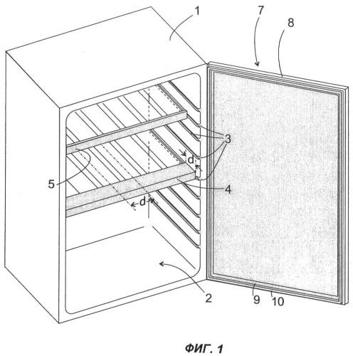 Холодильный аппарат, предназначенный для хранения бутылок
