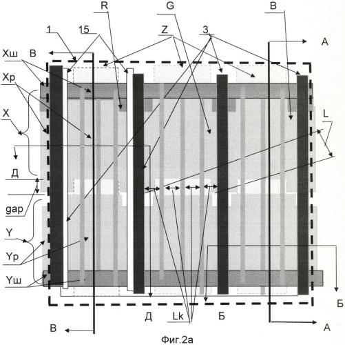 Способ возбуждения люминофора и элемент цветной плазменной панели переменного тока