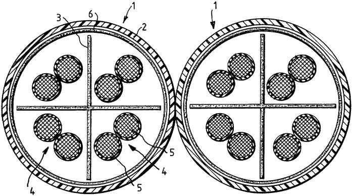 Симметричный кабель для передачи данных для коммуникационной техники и техники передачи данных