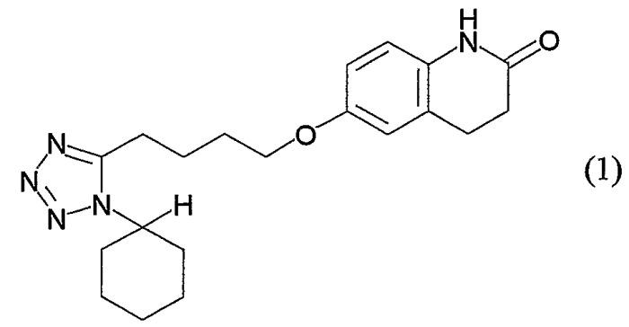 Орально распадающийся порошок, содержащий цилостазол и маннит