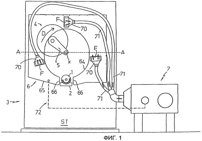 Устройство и способ охлаждения режущего средства в машинах для разрезания длинных рулонов бумаги