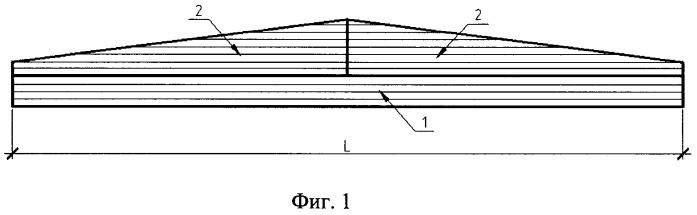 Способ изготовления двухскатных дощатоклееных элементов