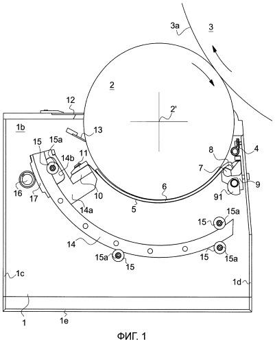 Система удаления краски, предназначенная для печатной машины