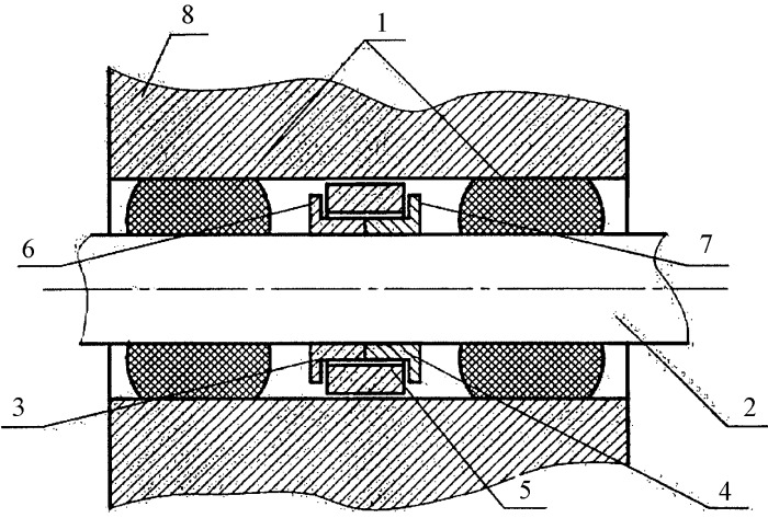 Резинометаллический шарнир для гусеничной цепи транспортного средства