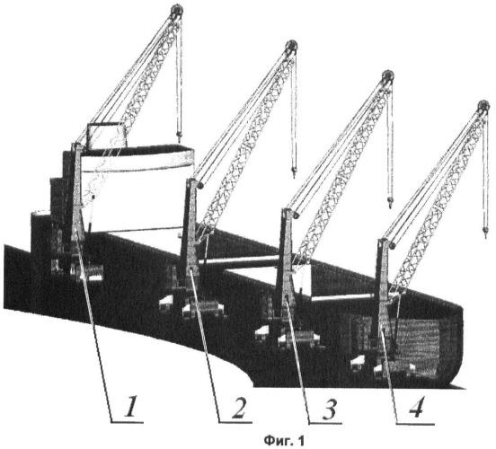 Способ обслуживания комплекса, включающего два и более мобильных стреловых портовых крана
