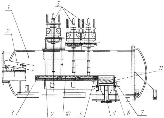 Печь для плавки и рафинирования реакционных металлов и сплавов