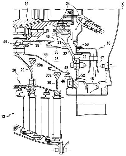 Система герметизации задней смазочной камеры турбореактивного двигателя