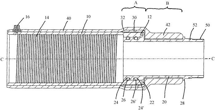 Соединительное устройство для присоединения выполненной из волокнонаполненной пластмассы трубы или армированной пластмассовой трубы к последующей детали