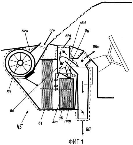 Отопительный теплообменник высокой мощности для автомобилей, а также устройство отопления-кондиционирования с отопительным теплообменником высокой мощности
